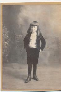 Harold Gordon Henson as a boy in 1898